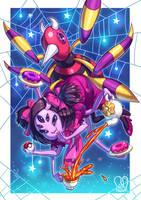 Pokemon x UNDERTALE :Muffet X Ariados by Sa-Dui