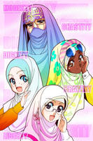 headscarf princesses 2 by Nayzak