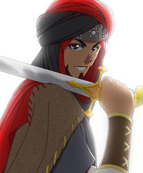 Arab with a Sword by Nayzak