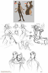 Pit People (Spoilers) : Honeyhug Sketches by MemQ4