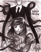Slender man y Jeff the Killer (especial halloween) by david-digil-zero