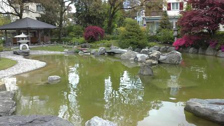 Garden in interlaken switzerland by miguelangela