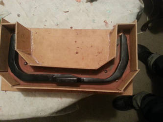 Ghostbusters Proton Pack Bumper Mold WIP 1 by ritter99