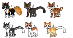 Warrior cat breedables 2 (temporarily closed!) by KdaPoetWarrior