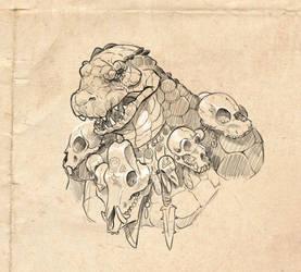 reptile warrior by ZAPF-zeichnet