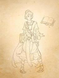 sorcerer's apprentice work in progress by ZAPF-zeichnet