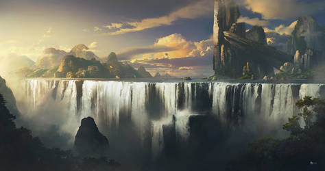 Waterfall by rulez-dmitriy