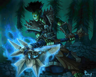 Orc Deathknight by PhillGonzo