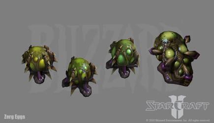 Starcraft 2: Zerg Egg s by PhillGonzo
