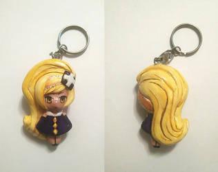Handmade X-Dia keychain by RavenCorona