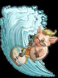 Banjo Pig Sizzlin' Bacon by WilsonWJr