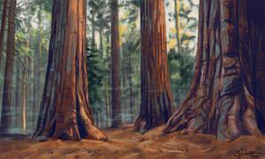 Landscape - study II by Abenius