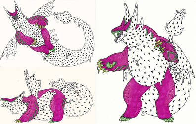 Sketchbook Page 330: rawr by DRAGONLOVER101040