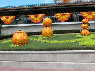 Halloween Train Station 6 by WDWParksGal-Stock