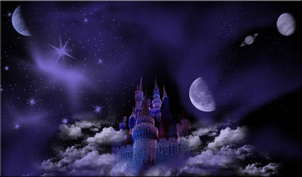 Castle in the Sky Background by WDWParksGal-Stock