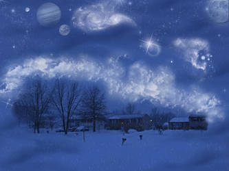 Winter Fantasy Background by WDWParksGal-Stock