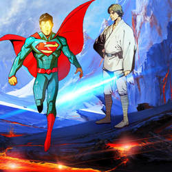 Superman and Luke Skywalker collab by MayanTimeGod