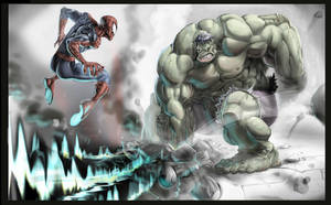 Hulk 'n' Spidey... by joverine