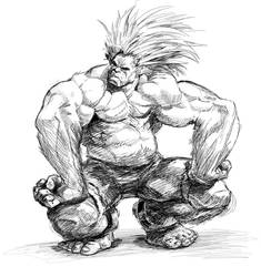 Blanka sittin' by joverine