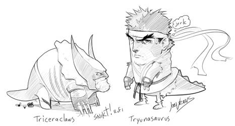 Marvel vs Capcom sketches by joverine