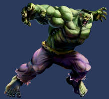 MvC2 Hulk by joverine