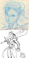 o9 Capcom sketches left behind by joverine