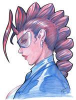 Crimson Viper Comic Con sketch by joverine