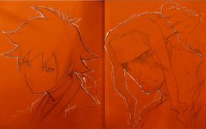 A-kon Sketches Makoto Alex by joverine
