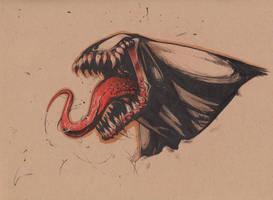 Venom headsketch by joverine