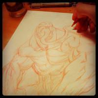Venom pencil wip by joverine