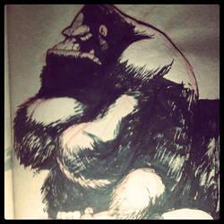 Grumpy Gorilla by joverine