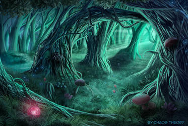 Sleeping Forest FF7 by ChaosTheory83