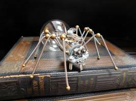 Metal Spider Sculpture by deathbysunset