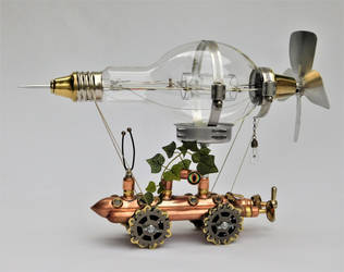 Steampunk Airship by deathbysunset