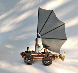 Steampunk Pirate Airship by deathbysunset