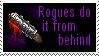 Rogues Do It From Behind Stamp by The-Warcraft-Legion