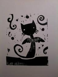 cat wings print I by starwoodarts