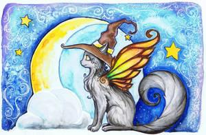 Halloween Fairy Cat by starwoodarts