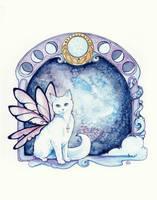 Moon Phase Cat by starwoodarts