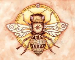 Honey Bee Mandala by starwoodarts