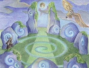 Moonlight Circle by Spiralpathdesigns