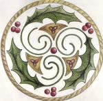 Reverse Holly Trisk by Spiralpathdesigns