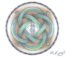 Ancient Earth Mother Knotwork by Spiralpathdesigns