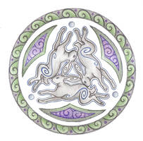 Triple Hare by Spiralpathdesigns