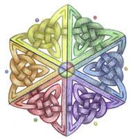 Prism Star Knotwork  by Spiralpathdesigns