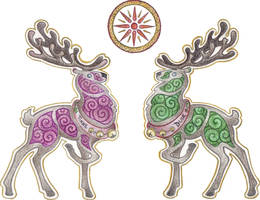 The Dance of Holly and Oak by Spiralpathdesigns