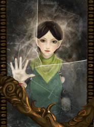 Demon behind a mirror by Anixien