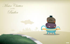 Mister Clutter and his butler by weirdink