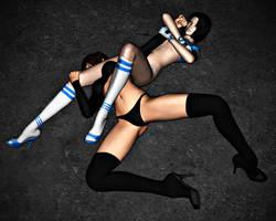 Kierstyn VS Nikki: Arm Bar 1 by FatalHolds