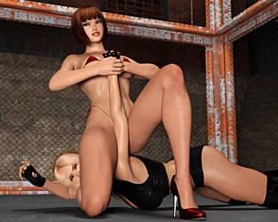 Nina Vs Anna: Arm Bar Takedown 2 by FatalHolds